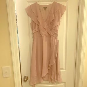 The Limited Mauve Lavender Pink Ruffle Dress 4